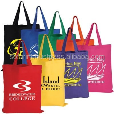 100% COTTON TOTE BAGS/ SHOPPING BAG/ COTTON GROCERY BAG
