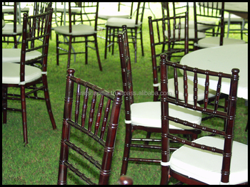 Mahogany Wedding tiffiny chairs