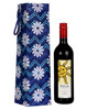 Table Decor Floral Printed Cardboard And Cotton Fabric Single With Strap Bottle Holder