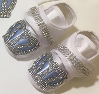 Baby Shoes, Bootie 0-12 Months Special Design Crowned