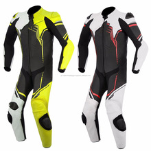 Custom made Motorbike Racing Leather Suit CE certification safety protections