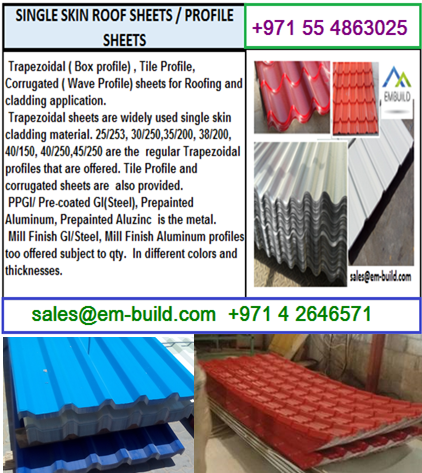 Steel, Aluminum and Aluzinc sheets for roofing