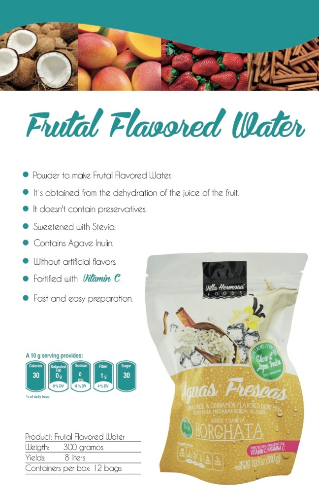 Natural Organic Frutal Flavored Water Powder