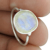 Rainbow moonstone gemstone ring 925 sterling silver jewelry wholesale silver rings exporters