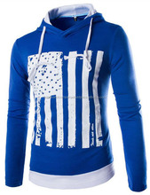 High Quality Wholesale U.S American Flag Pullover Hoodies