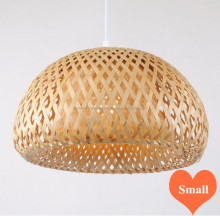 Natural round bamboo lampshade, indoor pendant light handmade in Vietnam
