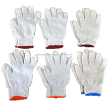 CHEAP SAFETY 7 GAUGE COTTON KNITTED HAND GLOVES IN NATURAL, WHITE AND GREY COLOR