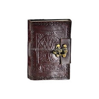 New Embossed Leather Tree Of Life Unlined Journal Dream Book