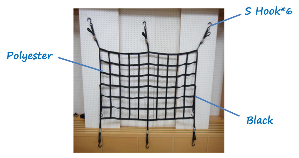 TAIWAN made 164*90 CM BAG hook bungee cargo net