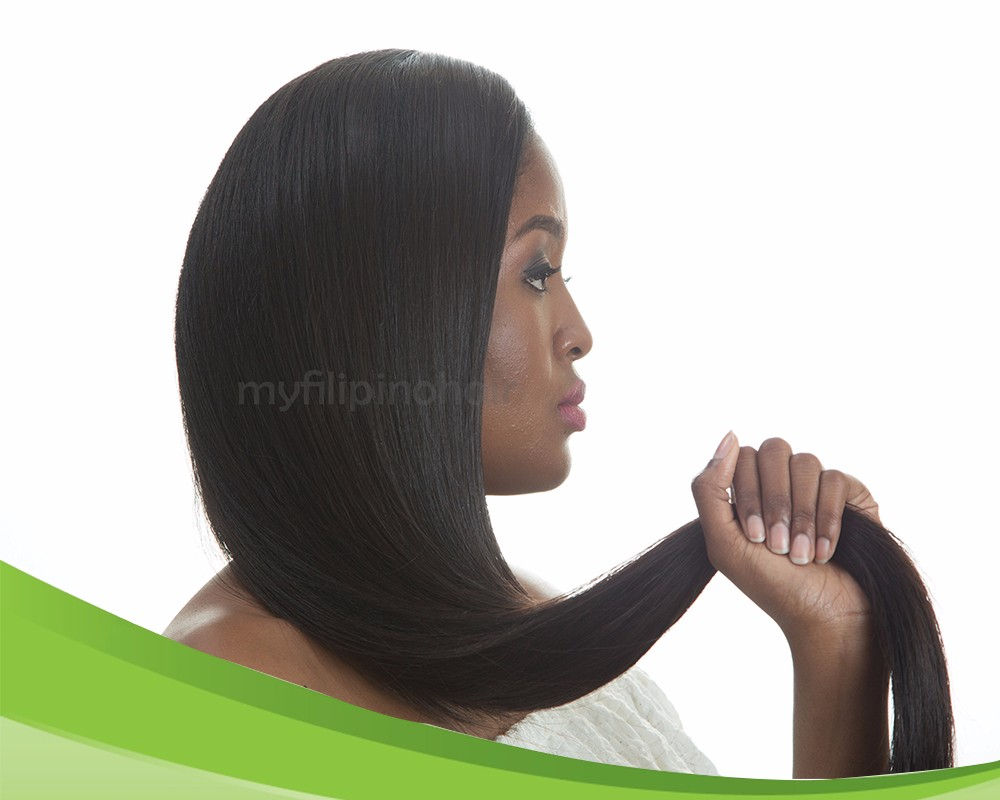 100% Natural Virgin Human Straight Hair Extension Made in the Philippines