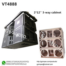 dual 12'' three way empty cabinet,VT4888 line array speaker box