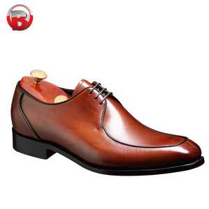 Mens Leather Lace Up Derby Shoes Classic Formal Shoes Round Toe Carved
