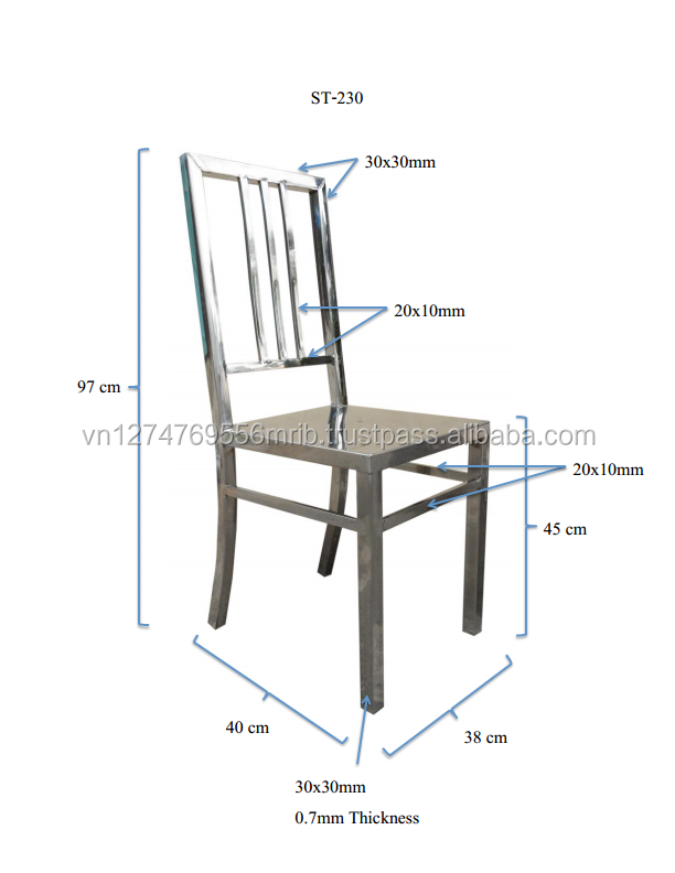 Factory Stainless steel chair furniture for sale