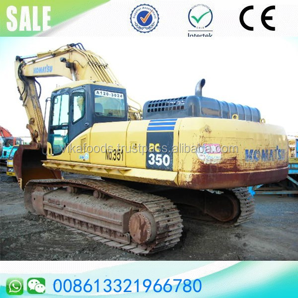 Secondhand komatsu pc350-7 track excavator Japan original heavy digger sale in China