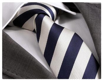 Blue White Striped Necktie, best sells, tie, silk necktie, necktie label, corbata, krawatte, Schlips