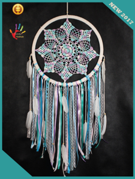 Latest 2017 wall hanging macrame wedding dream catchers