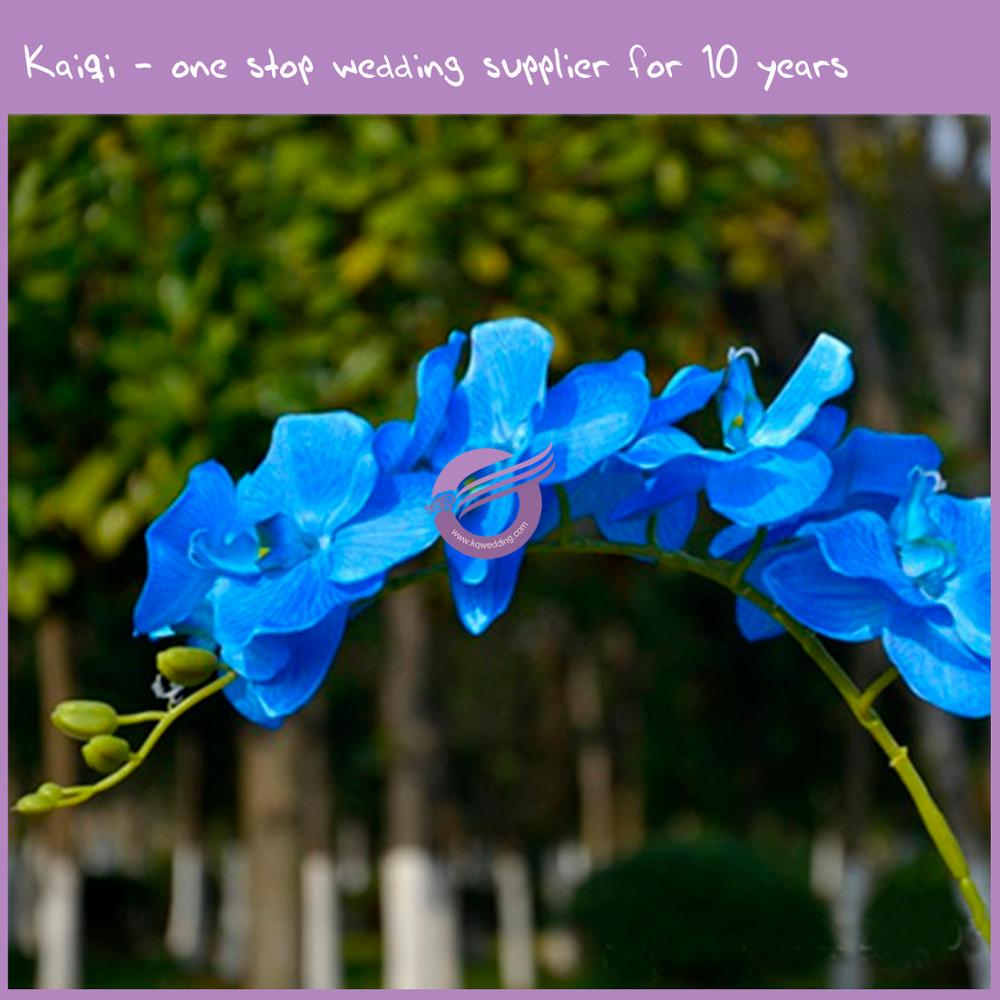 RH00970 blue high quality 8 heads moth artificial flower butterfly orchid