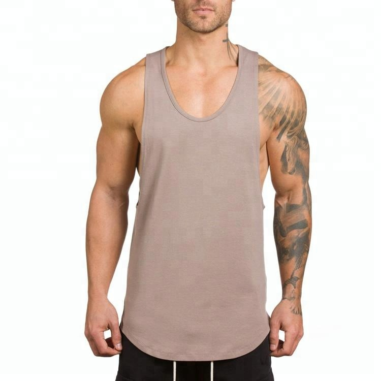 custom wholesale mens fitness tank tops athletic gym singlets