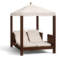 Teak Wood Sun Lounge Furniture with Sunbrella 100% Polyester