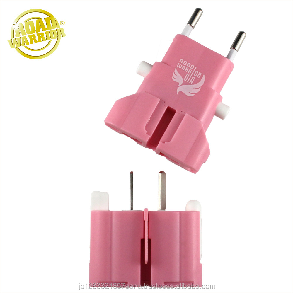 Cute Baby Pink All-in-one World Wide Travel Plug Adapter