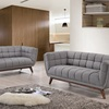 Wooden Leg Fabric Sofa Set Home