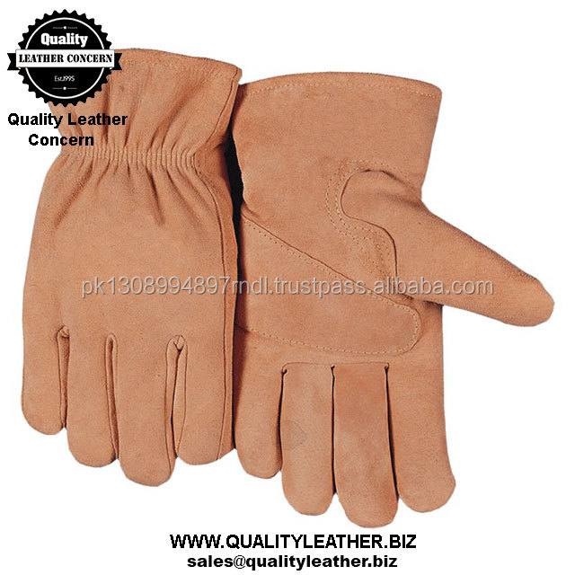 Top Fashion Contrast Color Gents Leather Gloves Car Accessory