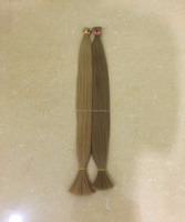 Hot Selling Remy Double Drawn Weft Full Cuticles Russian Hair Blonde 613 Color Weave Human Hair Weft