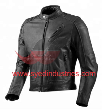 Leather Motorbike Jacket made with Removable zip-out liner