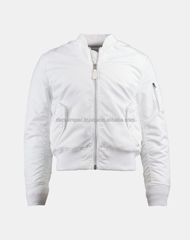 Fresh quality white colour bomber jacket for men