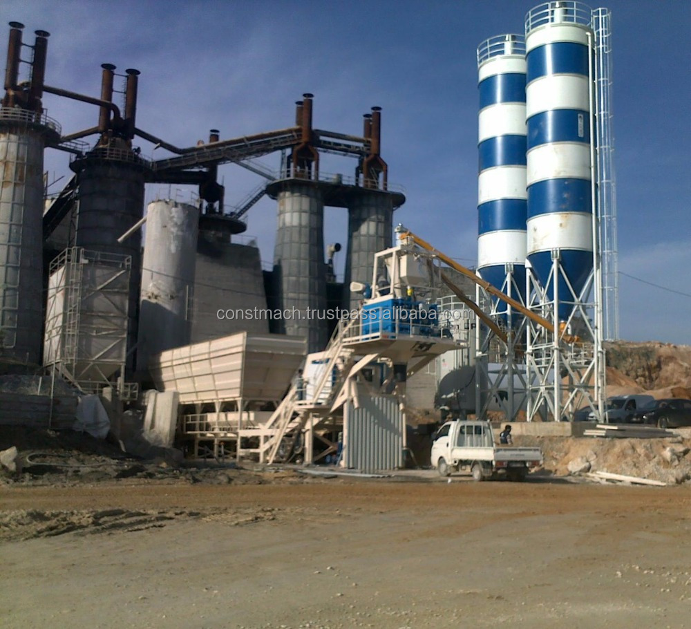 SEMI MOBILE READY MIXED CONCRETE FACTORY FOR SALE, 120 CUBIC METER PER HOUR CAPACITY, CALL NOW!