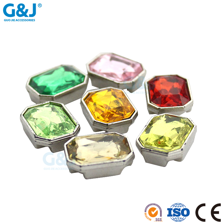 Guojie brand new design special shape beautiful different color with frame acrylic stone