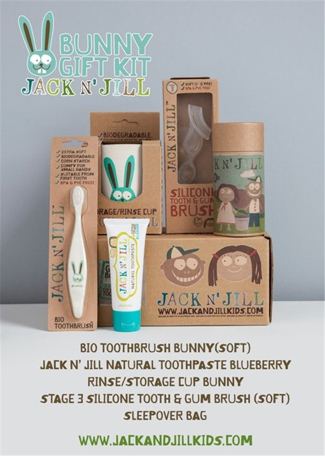 In Stock Bunny Gift Kit, Baby Tooth brush&Tooth paste