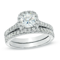 Handcrafted 1-1/4 CT 14K Diamond bridal ring sets rings engagement rings