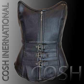 Cow Leather And Lamb Leather And Sheep Leather Steel Boned Over Waist Training Corsets Supplier