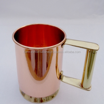 16 OZ BPA FREE LINED 100% COPPER SMOOTH MOSCOW MULE MUG