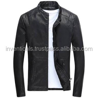 Wholesale Latest fashion Men Customised PU Leather Biker Jacket