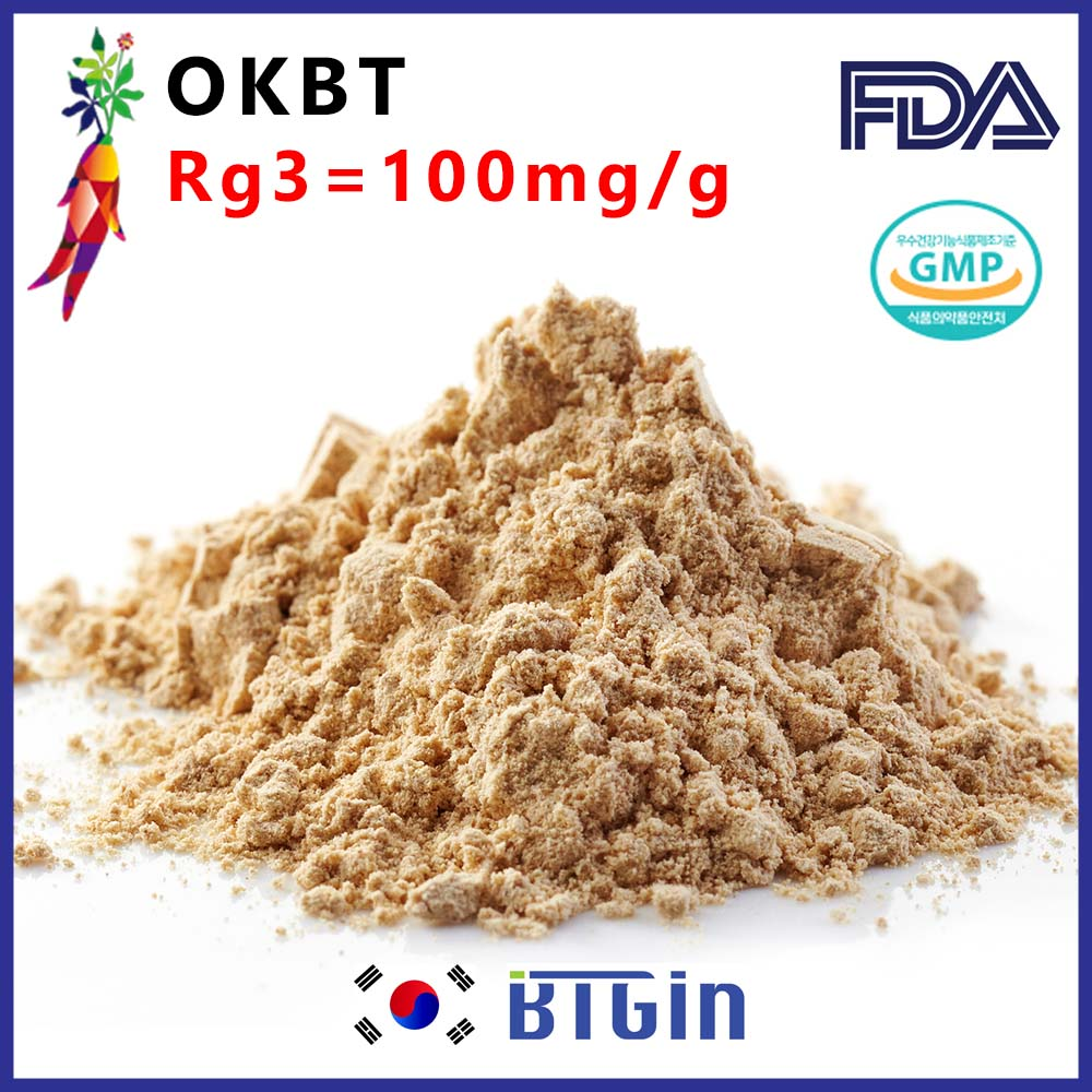 (Rg3>100mg/g)Korean red panax ginseng extract powder fully enhanced with Rg3 BTGin OKBT