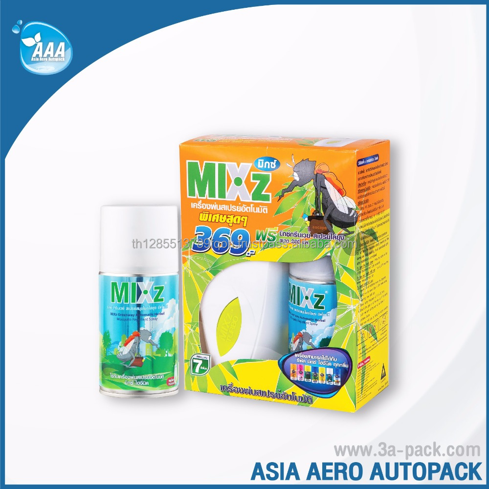 Automatic Dispenser Set + Refill Insect & Mosquito Repellent Spray for room