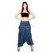 Indian Bohemian Alibaba Harem Pant Hippie Romper Pants Trouser one size Loose Gypsy Hippie Baggy Pants Afghani Unisex