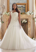 Latest Bridal Wedding Dress Designs A-Line Gown Plus Size Organza and Tulle Fabric High Quality