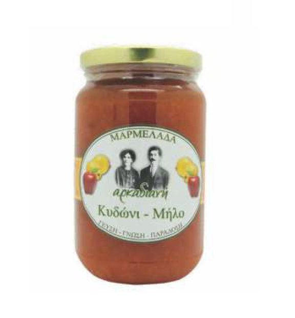 Sweet Fruit Marmelade Quince - Apple Jam Traditional Greek Food Gifts - 450g