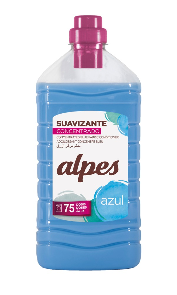 Alpes Blue Concentrated Fabric Softener 75 doses