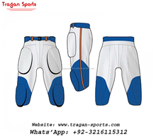 Youth Players Cool White and Blue Custom American Football Pant