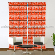 Latest design 2018 new design cotton printed Indian cotton door curtains window curtains