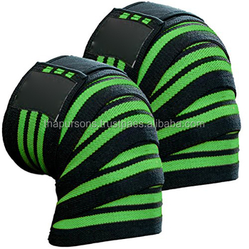 Knee Wraps with Velcro for Cross Training Gym Workout, Weightlifting,Fitness & Power lifting