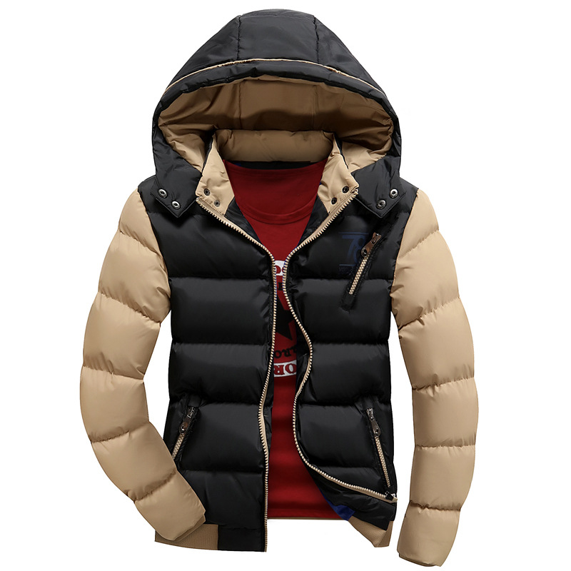 Winter Wear Down Coat New Arrival Men's Fashion Solid Thick Warm Hooded Padded Coat