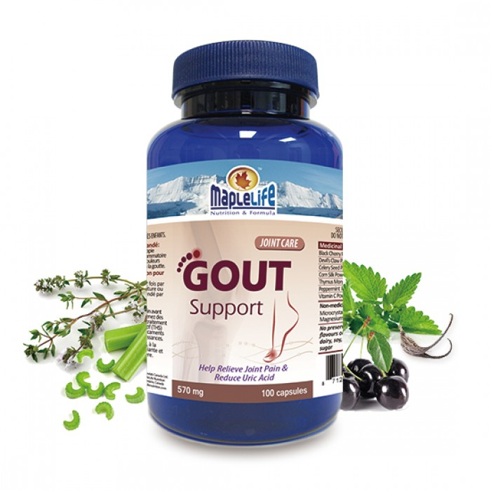 100 CAPSULES 570 MG URIC ACID AND JOINT SUPPORT WITH BLACK CHERRY,DEVIL'S CLAW,CELERY EXTRACT