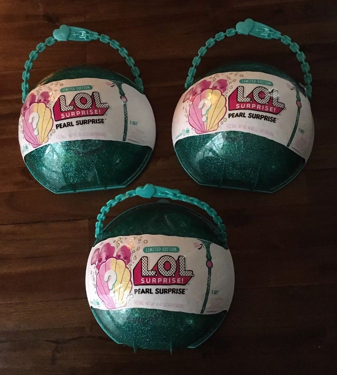 All New L_O_L Surprise! Green Mermaid PEARL SURPRISE Limited Edition Dolls Big Lil Sister