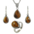 Fabulous handmade tiger eye jewelry set 925 sterling silver jewelry indian jewelry wholesalers