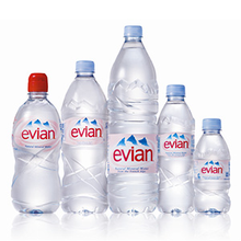 EVIAN MINERAL WATER AVAILABLE
